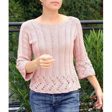 Chinese Knitting Patterns : Chinese Lace Pullover Knitting pattern by Angela Hahn