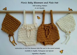 Picnic Baby Bloomers and Pixie Hat