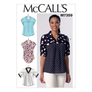 McCall's Misses' V-Neck Dolman Sleeve Tops M7359 - Sewing Pattern
