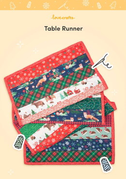 LoveCrafts Table Runner Pattern -  Downloadable PDF