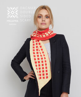 Dagmar Scarf in MillaMia Naturally Soft Cotton - Downloadable PDF