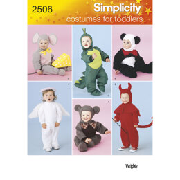 Simplicity Toddler Costumes 2506 - Paper Pattern, Size A (1/2-1-2-3-4)