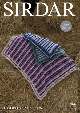 Blankets in Sirdar Country Style DK - 7826- Downloadable PDF