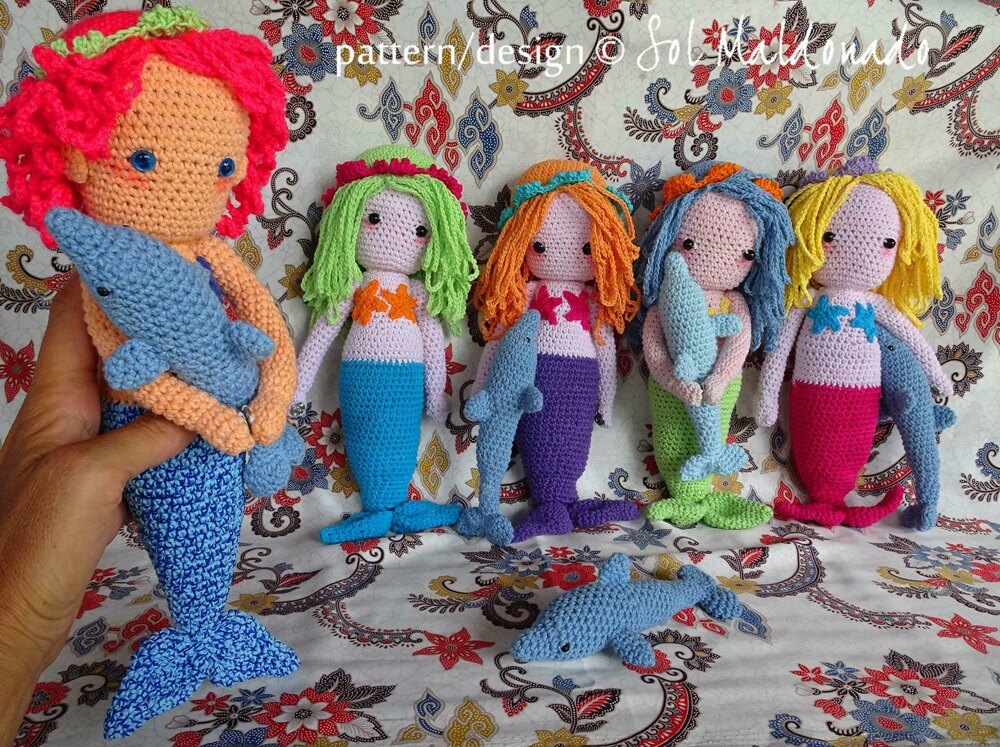 Amigurumi Mermaid Doll Crochet Pattern By Sol Maldonado