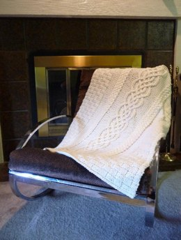 Cabled Wedding Blanket