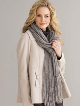 Indulgence Ribbed Scarf in Filatura Di Crosa Superior