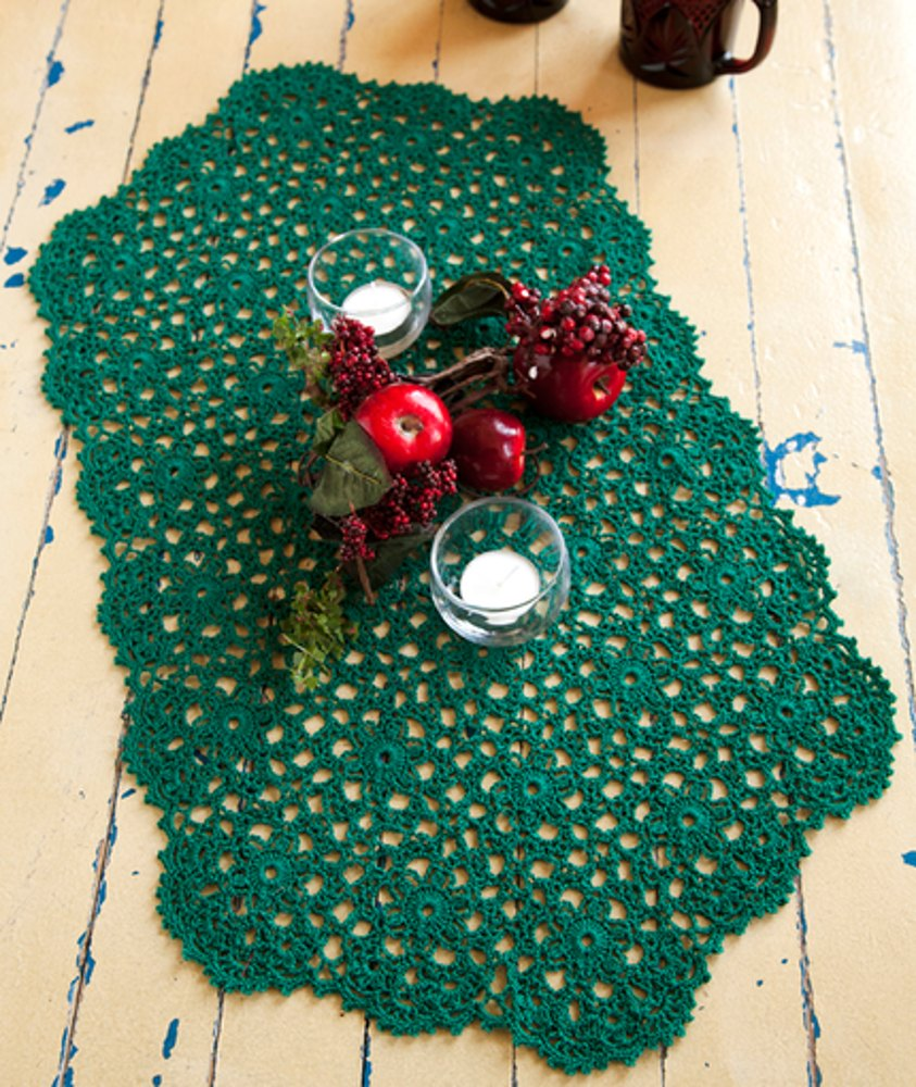 Holiday Or Any Day Table Runner In Red Heart Aunt Lydias Classic