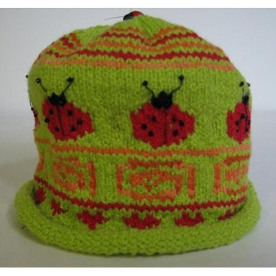 """""""Ladybugs Bring Good Luck"""" Beanie and Booties"""