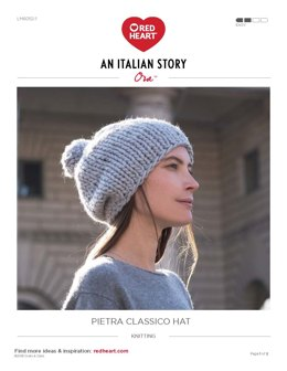 Pietra Classico Hat in Red Heart Ora - LM6052-1 - Downloadable PDF
