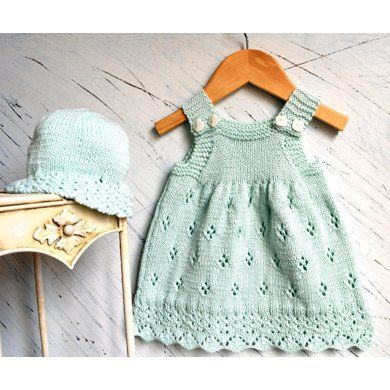 Knitting Pattern For Baby Summer Hats : Sun dress with matching sun hat Knitting pattern by OGE Knitwear Designs Kn...