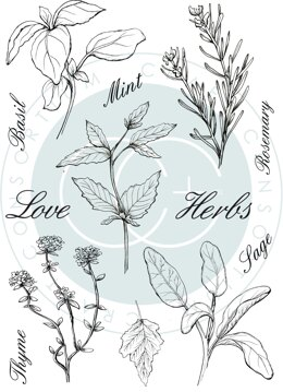 Craft Consortium A5 Clear Stamps - Herbs