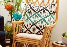 Knit Diamond Mosaic Cushion Cover in Bernat Blanket - Downloadable PDF
