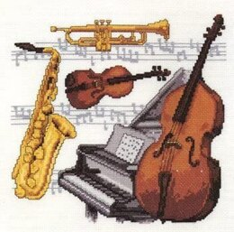 Pako Musical Instruments Sampler Cross Stitch Kit