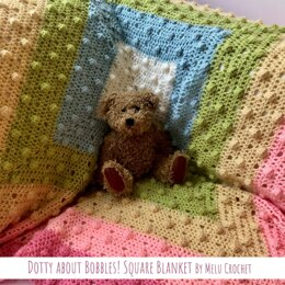 Dotty about Bobbles! Square blanket by Melu Crochet