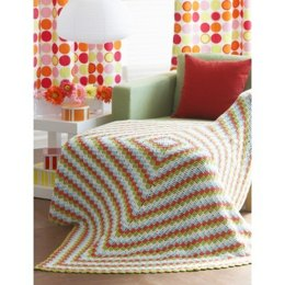 Cottage Throw in Lily Sugar 'n Cream Solids - Downloadable PDF