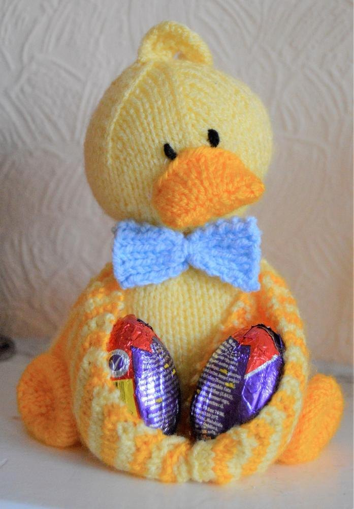 Ducky Egg Easter Egg Soft Toy Knitting pattern by Knitting by Post
