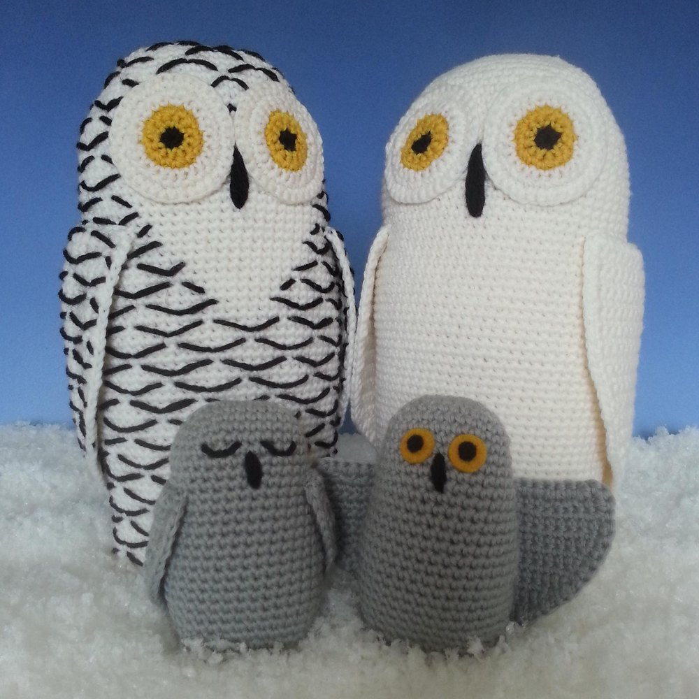 Ravelry: Snowy Owl pattern by Claire Garland | Owl crochet ... | 1000x1000