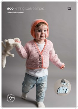Cardigan and Hats in Rico Creative Soft Wool Aran - 658 - Downloadable PDF