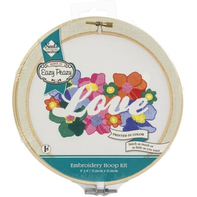 Needle Creations Easy Peasy Reverse Embroidery Kit - Love - 6in