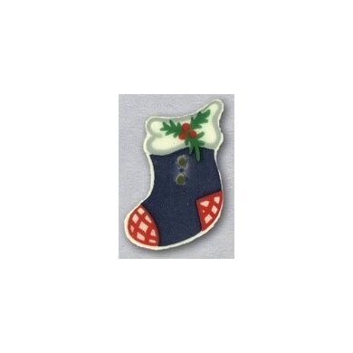 Mill Hill Button 86111 - Blue Stocking