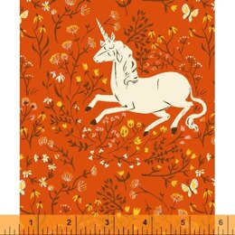Windham Heather Ross 20th Anniversary - Orange Unicorn