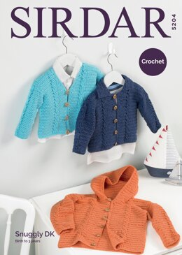 Boy's Cardigans in Sirdar Snuggly DK - 5204 - Downloadable PDF