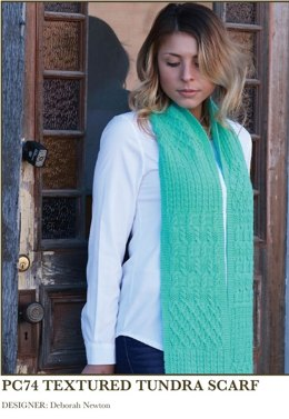 Textured Tundra Scarf in Imperial Yarn Denali - PC74 - Downloadable PDF