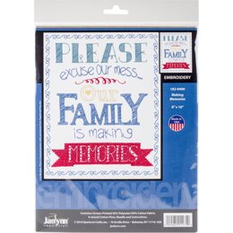 Janlynn Stamped Embroidery Kit 8in x 10in - Making Memories-Stitched In Floss