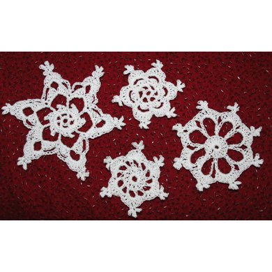 Four Easy Crochet Snowflakes