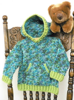 Toddler Hoodie in Caron Simply Soft Collection & Simply Soft Paints - Downloadable PDF