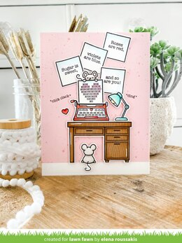 """Lawn Fawn Clear Stamps 4""""X6"""" - You're Just My Type"""