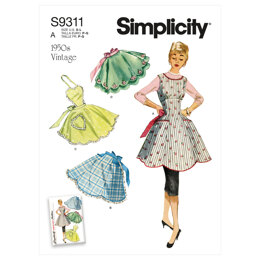 Simplicity Misses' Vintage Aprons S9311 - Sewing Pattern
