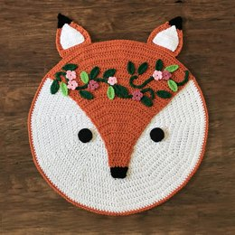 Woodland Fox Nursery Rug