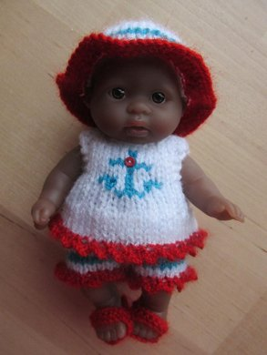 """Beach Outfit for 5"""" Berenguer Doll"""