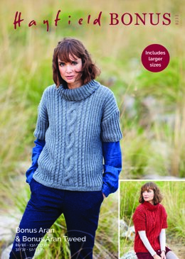 Sweater in Hayfield Bonus Aran with Wool - 8233 - Downloadable PDF