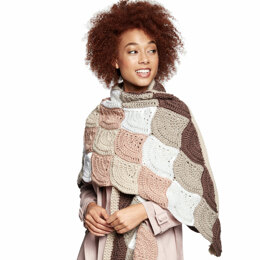 Wavy Wrap in Caron x Pantone - Downloadable PDF