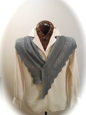 GENTLE AS A DOVE Lace-Edged Scarf