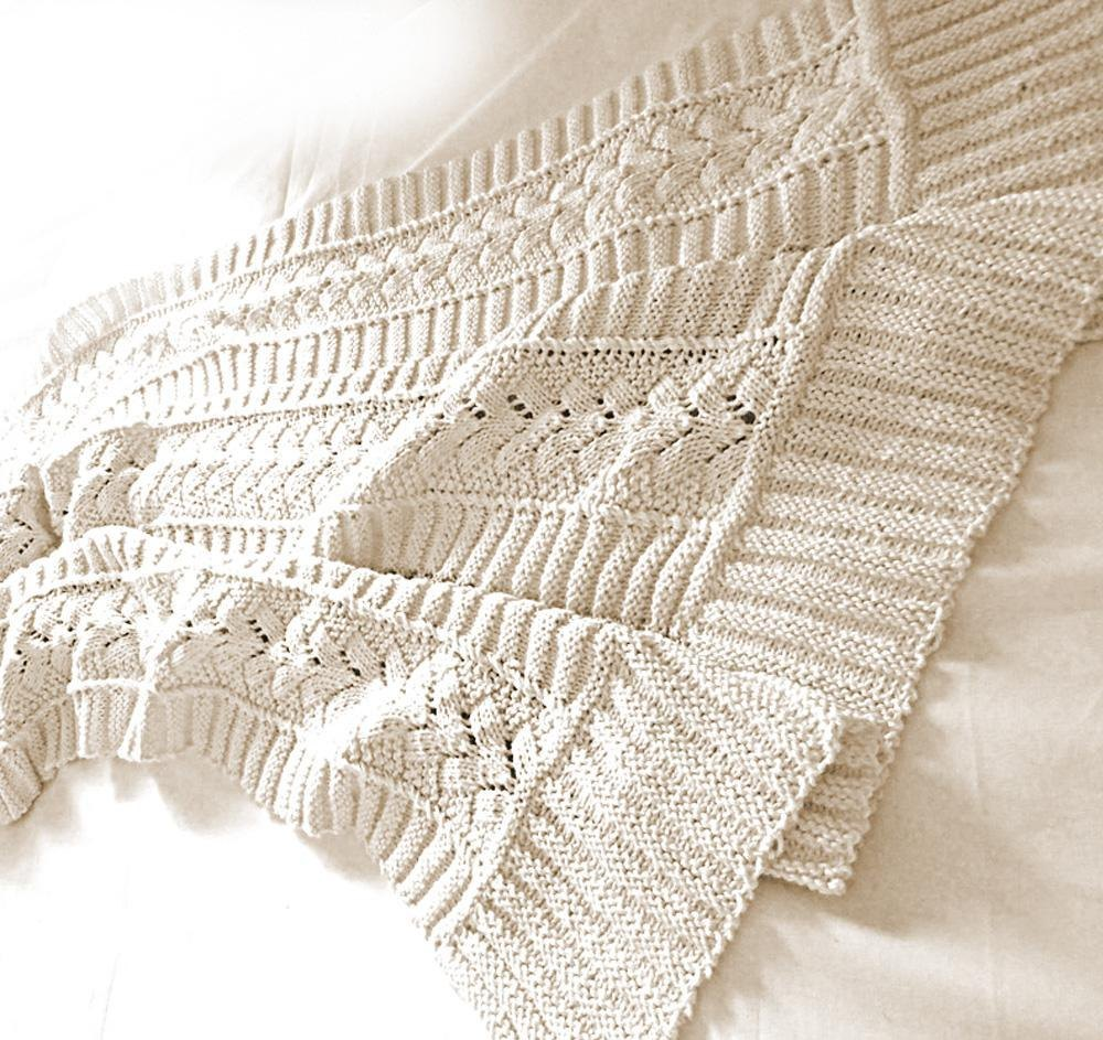 Baby Blanket Beautiful Heirloom Quality Knitting Pattern