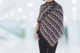 Colorful waves poncho
