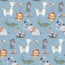Craft Cotton Company Wild About You - Wild Animals