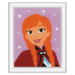 Vervaco Long Stitch Kit: Disney: Frozen - Anna - 16 x 12.5cm