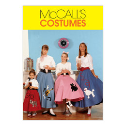 McCall's Children's/Girls'/Misses' Pull-On Skirt and Petticoat M6101 - Sewing Pattern