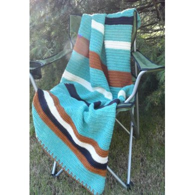 Lakeside S'mores Camp Blanket