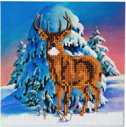 Craft Buddy Winter Stag Crystal Card Kit