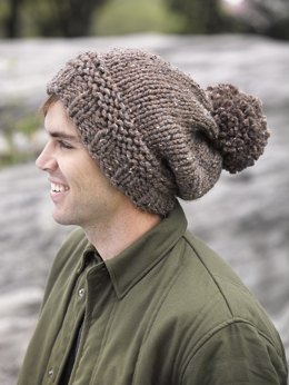 Pompoms Hat in Lion Brand Wool-Ease Thick & Quick - L32106D
