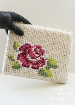 "Cotton Rose Bloom Tablet Case (8.5"" x 10"") (tunisian001)"