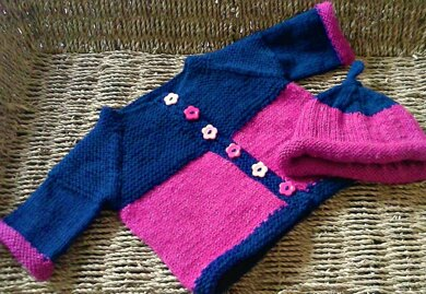 Holly Baby Cardigan and Hat