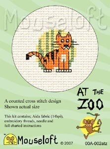 Mouseloft At the Zoo Tiger Cross Stitch Kit - 64mm