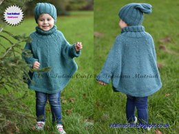 Fascination Poncho and Hat set
