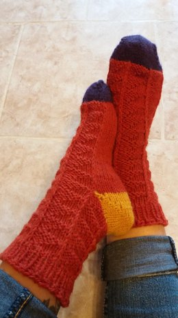 Pumpkin Scrappy Socks